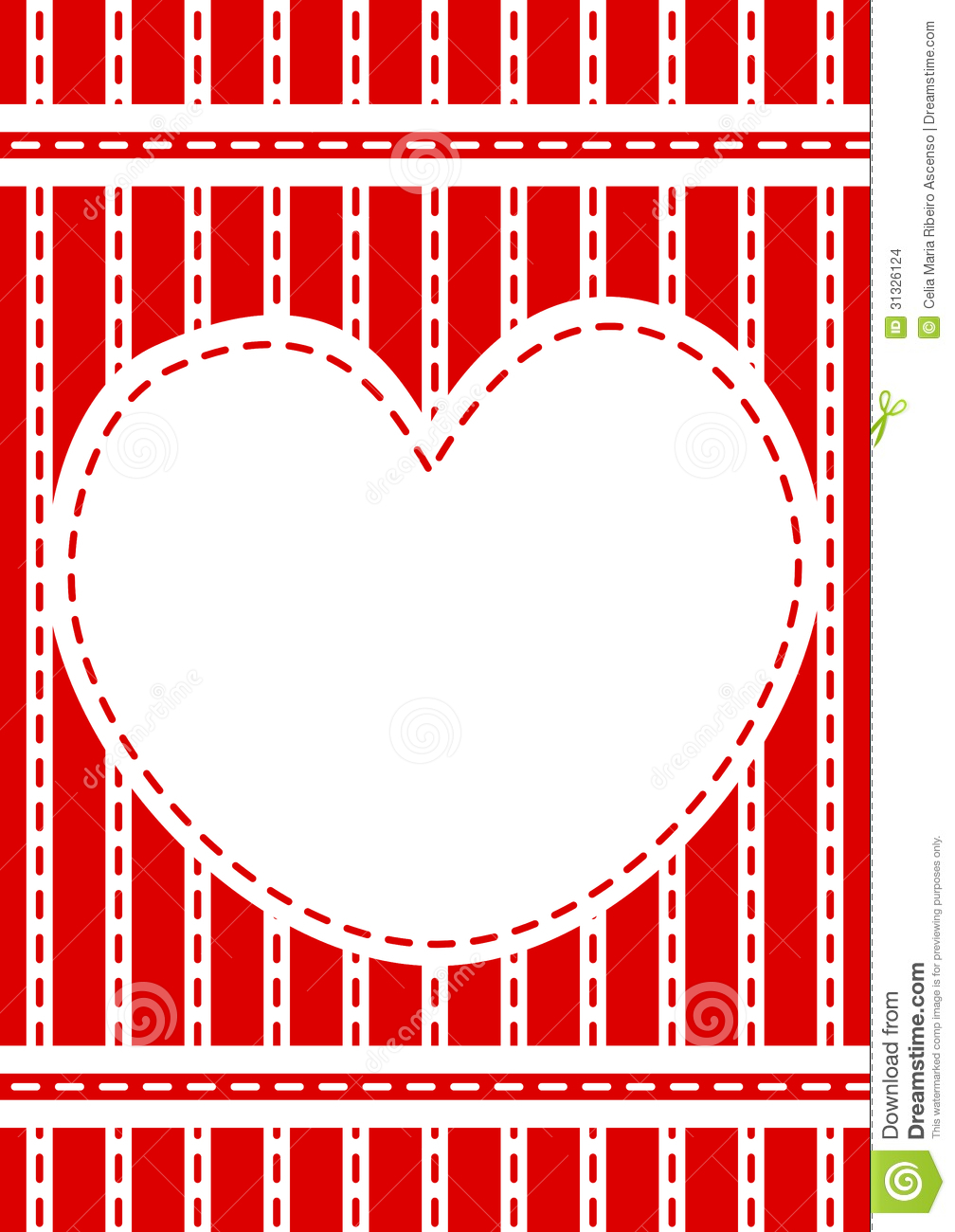 Stitched Red Heart Border Frame Stock Images Image 31326124