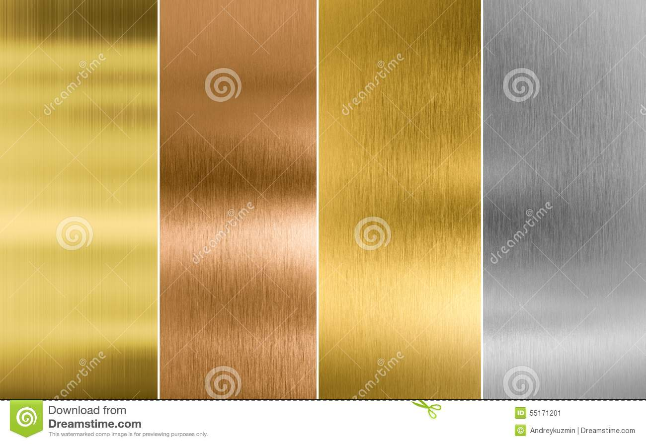 Stitched silver, gold and bronze metal texture