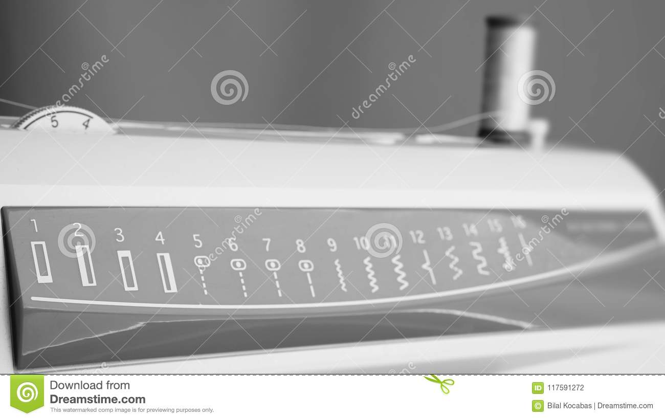Stitches Diagram On Sewing Machine Stock Photo Image Of Factory