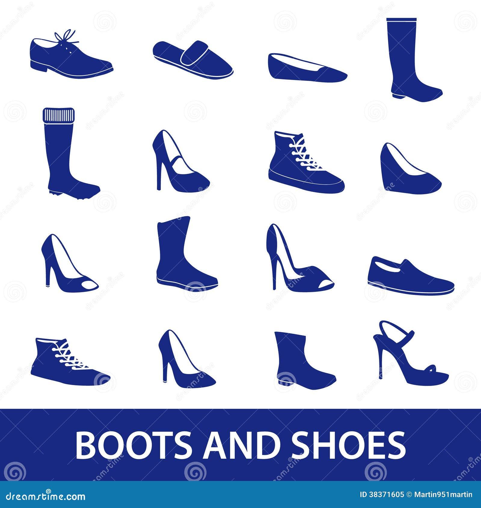 Stivali ed icone eps10 delle scarpe