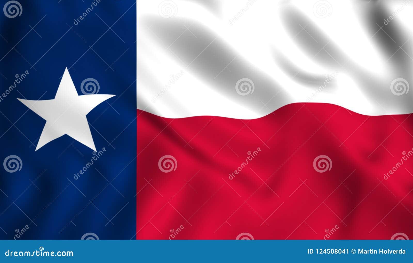 Stjärna för USA för Texas flaggatillstånd