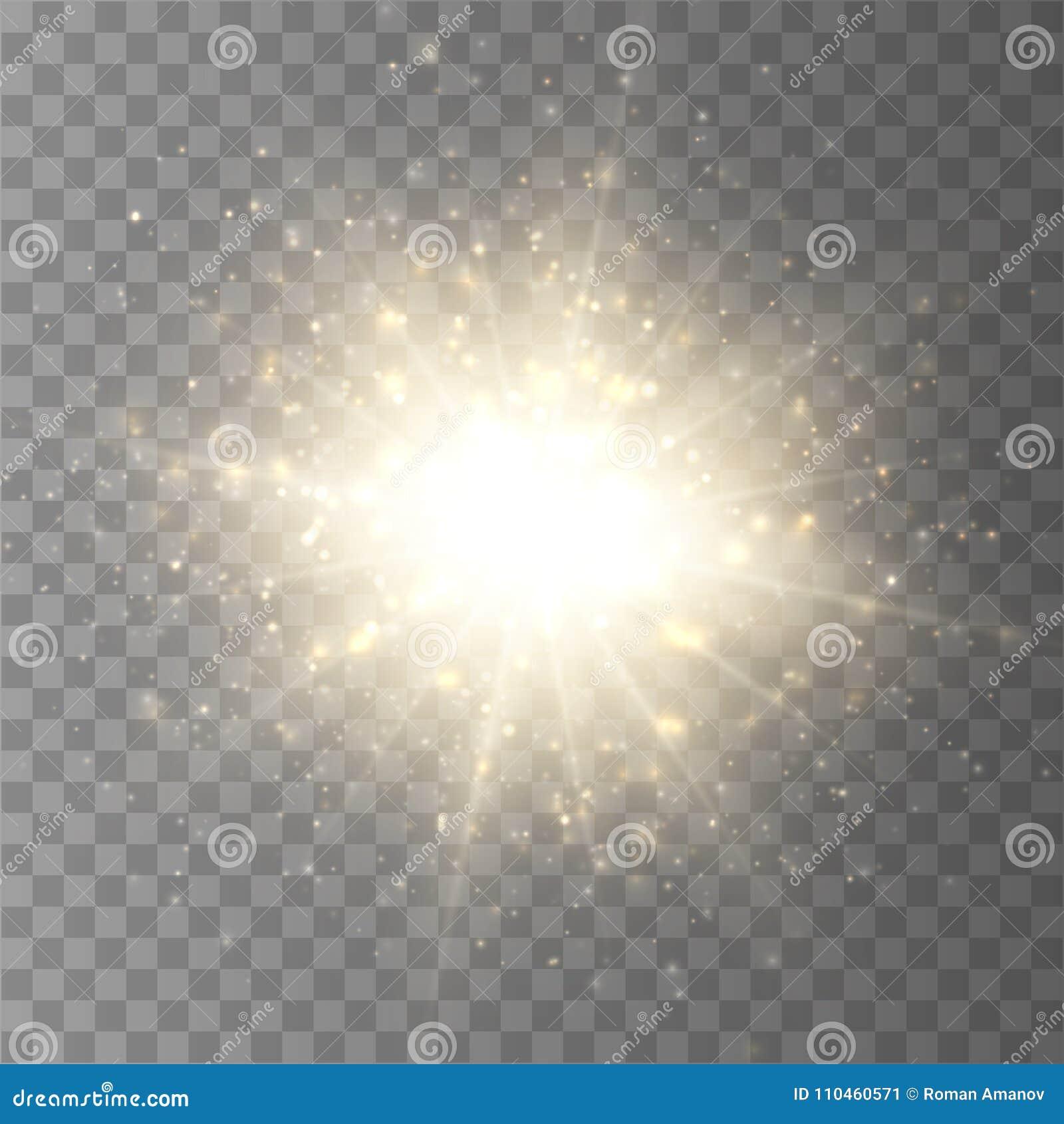 Stjärnabristning med den isolerade damm och gnistrandet Ljus effekt för glöd