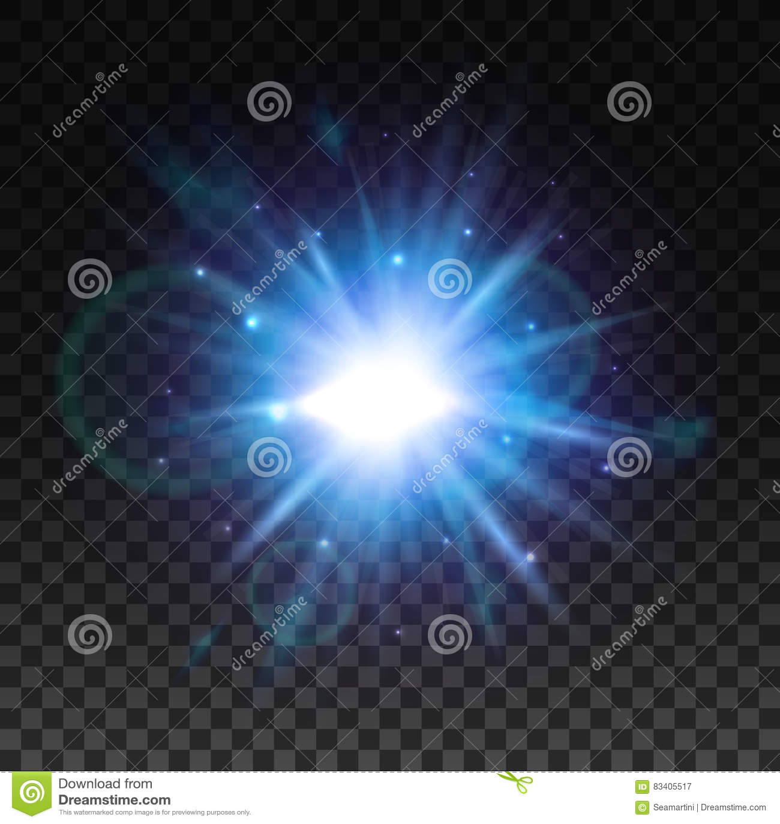 Stjärnaljusexponering med linssignalljuseffekt