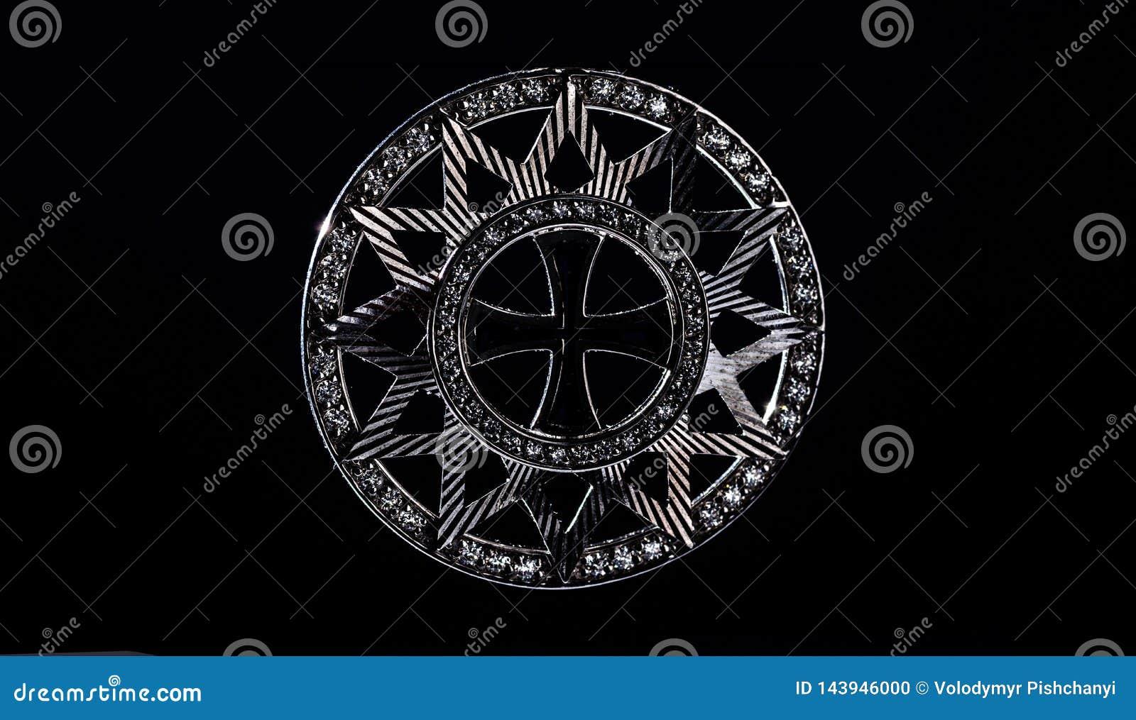 Stjärnan av Ertsgamma Kontur p? en svart bakgrund