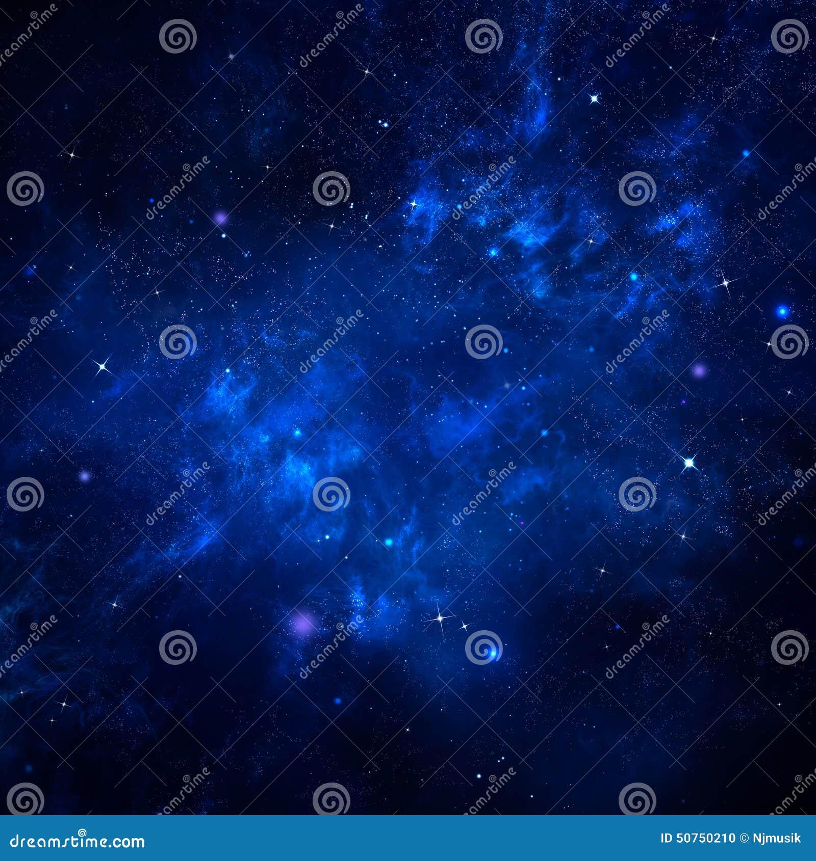 Stjärnklar himmel, utrymmebakgrund