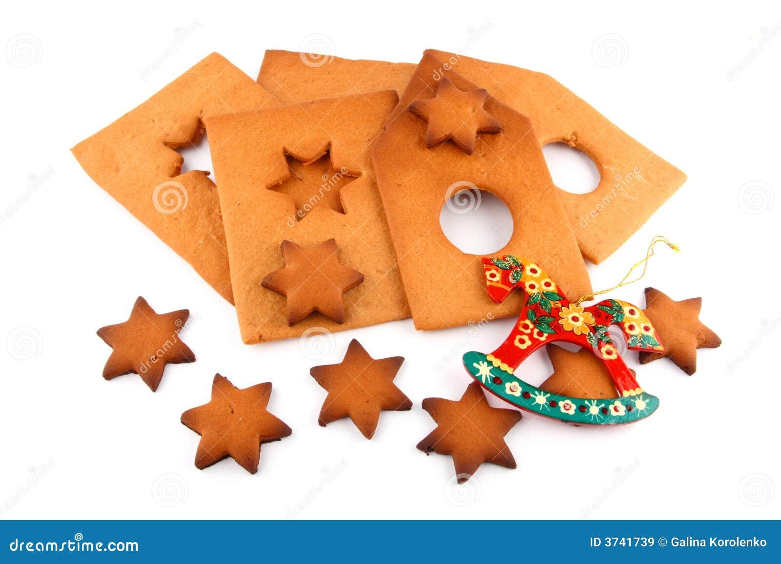 Stjärnor för krydda för cakehästhus söta röda