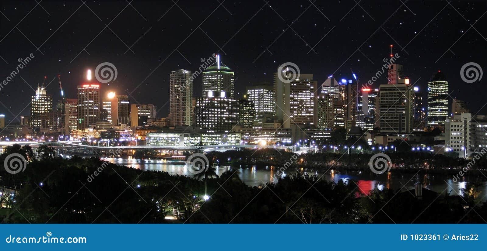 Stjärnor för stadspanoramaflod