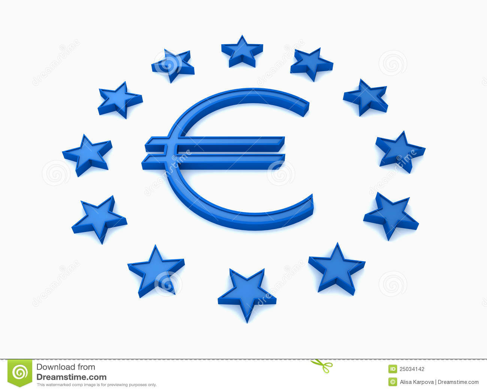 Stjärnor för tecken för blå eueuro vita runda
