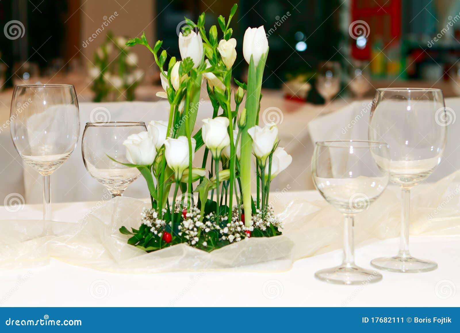 Stołowy dekoracja ślub