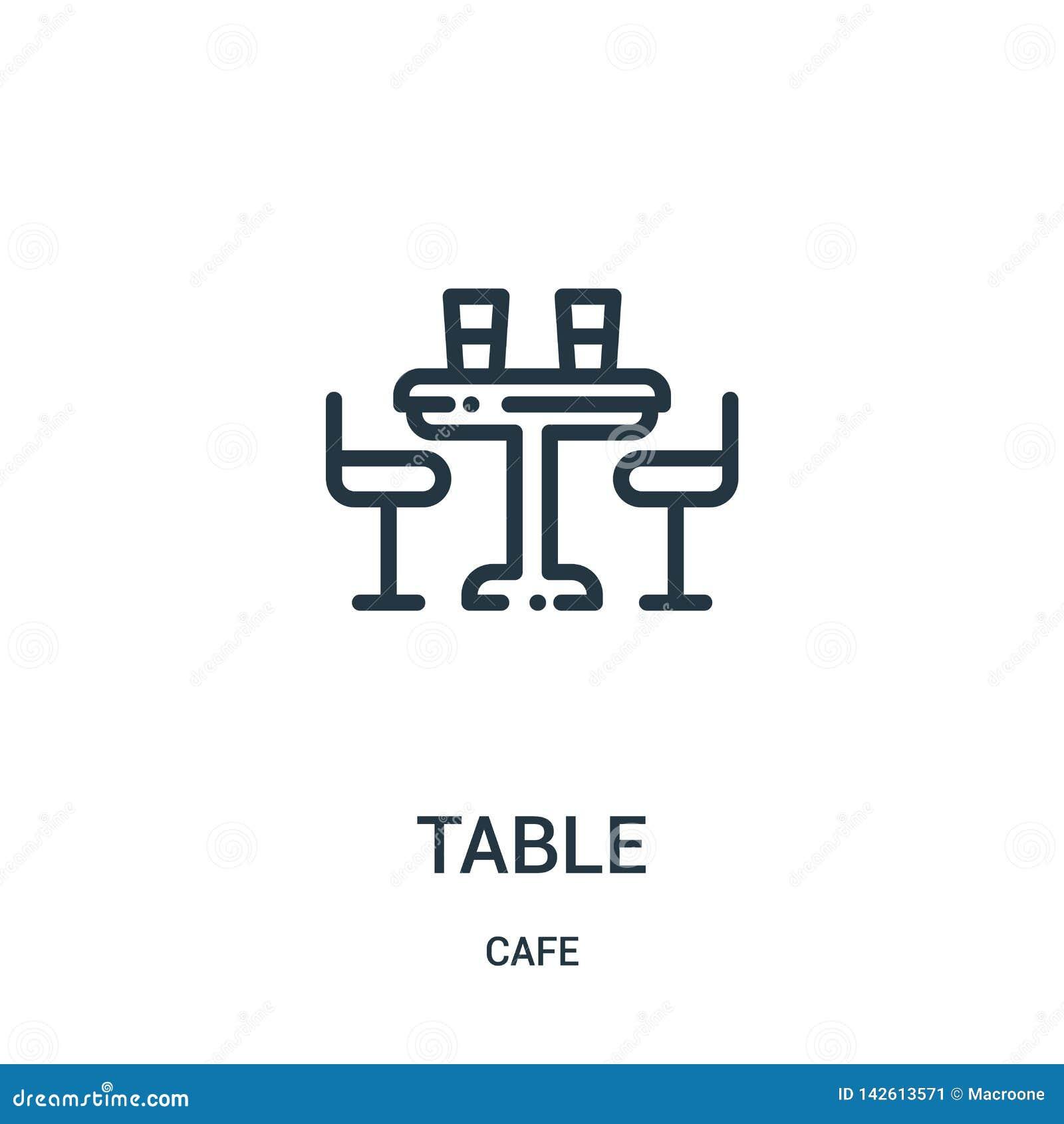 Stołowy ikona wektor od cukiernianej kolekcji Cienka linia sto?u konturu ikony wektoru ilustracja Liniowy symbol