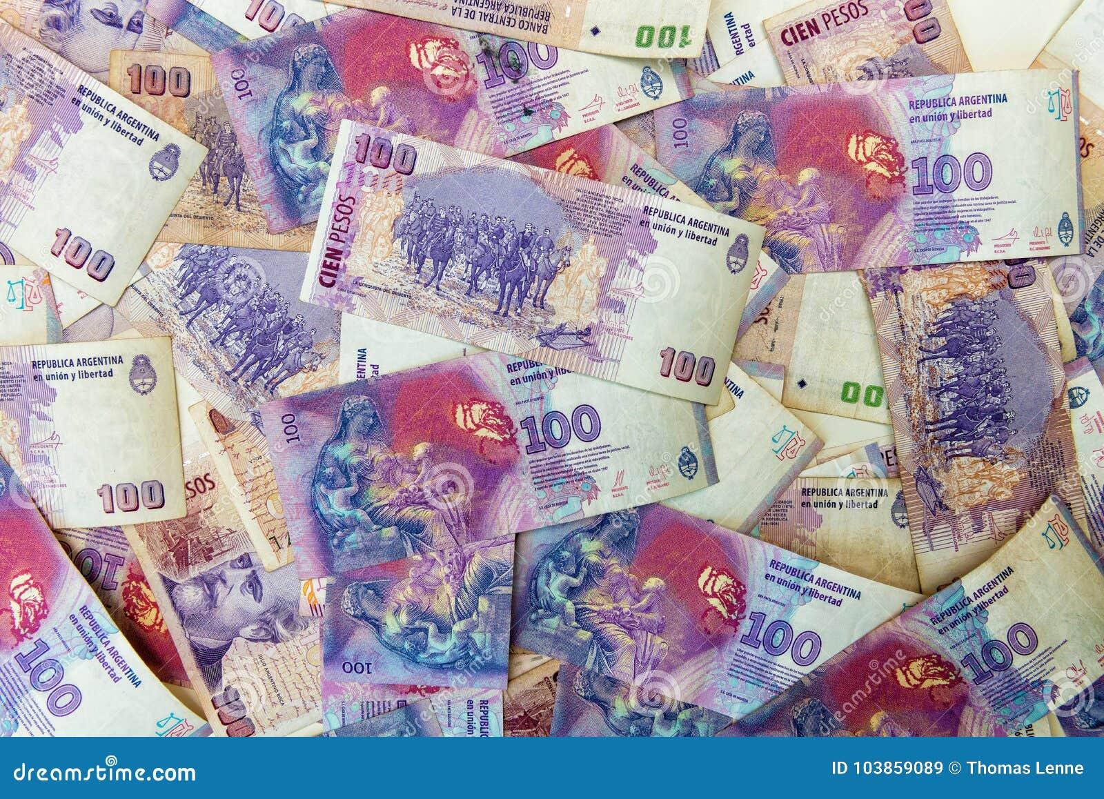 Sto argentinians peso rachunków
