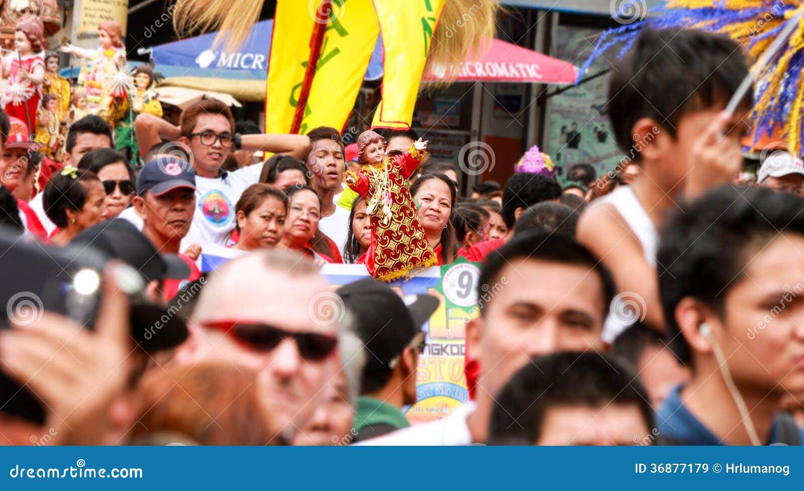 Download Sto Nino Festival Philippines Immagine Stock Editoriale - Immagine di jesus, festival: 36877179