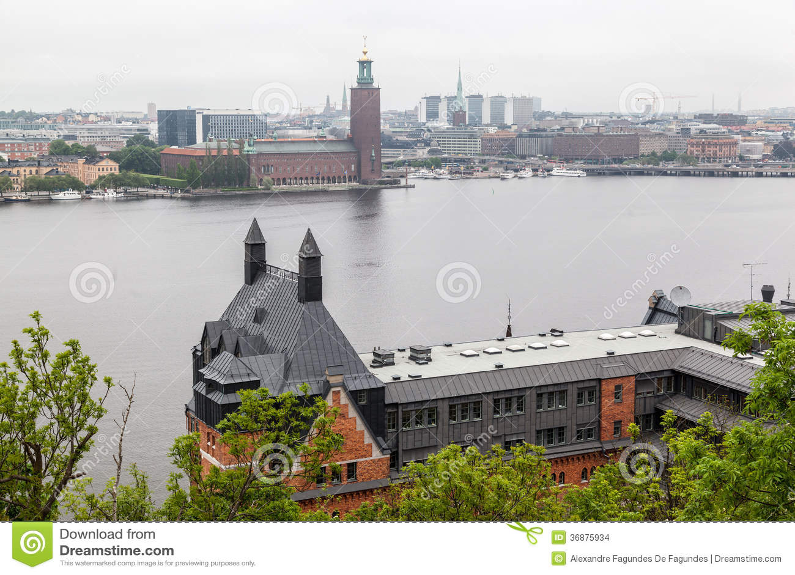 Download Stoccolma Svezia fotografia stock. Immagine di facade - 36875934