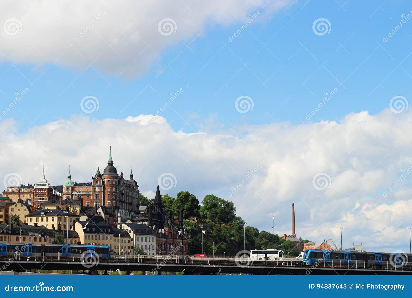 STOCCOLMA, SVEZIA - CIRCA 2016: Un immagine del paesaggio della città scandinava di Stoccolma, Svezia