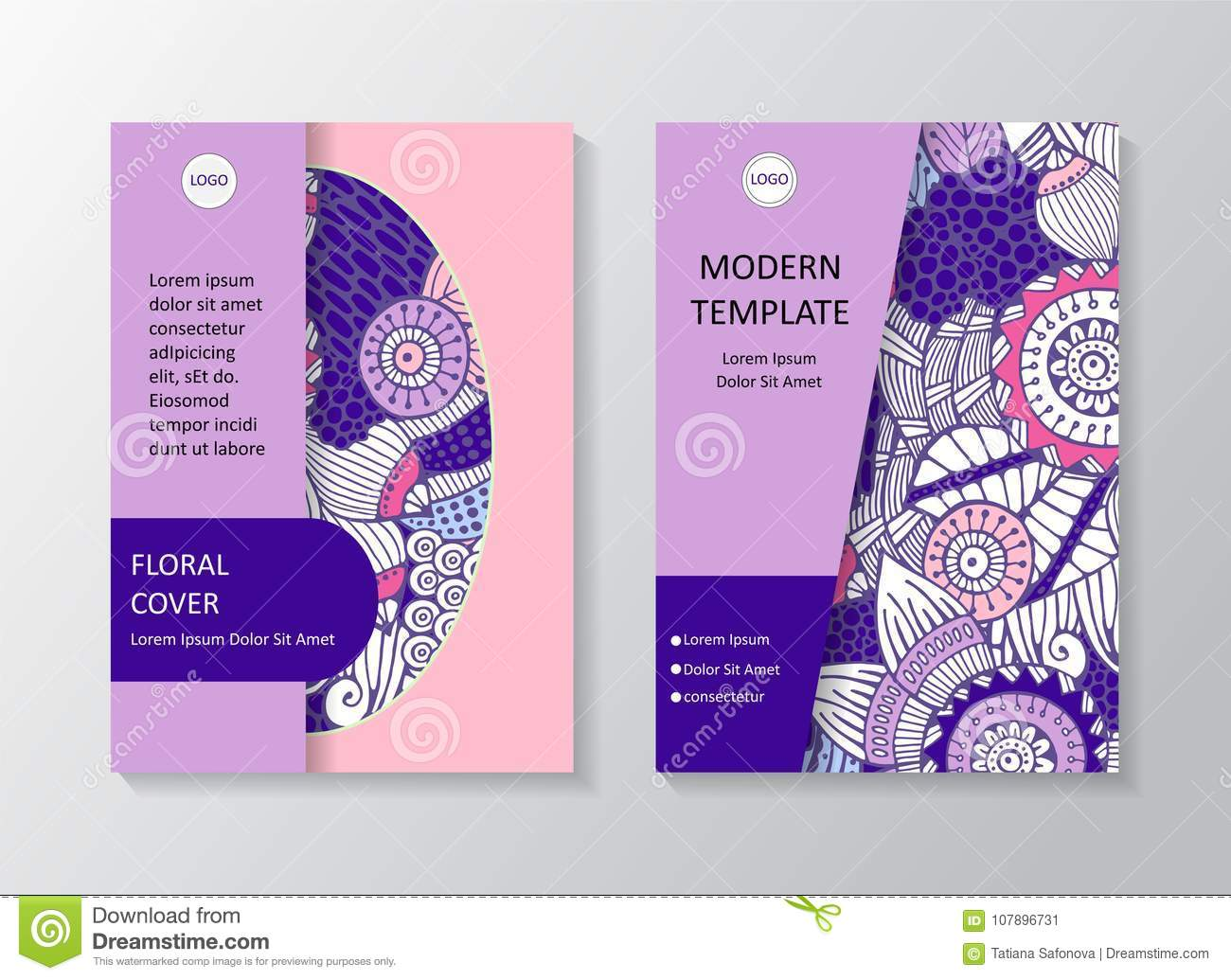 Stock Art Brochure Template Layout Design Corporate Bus Stock