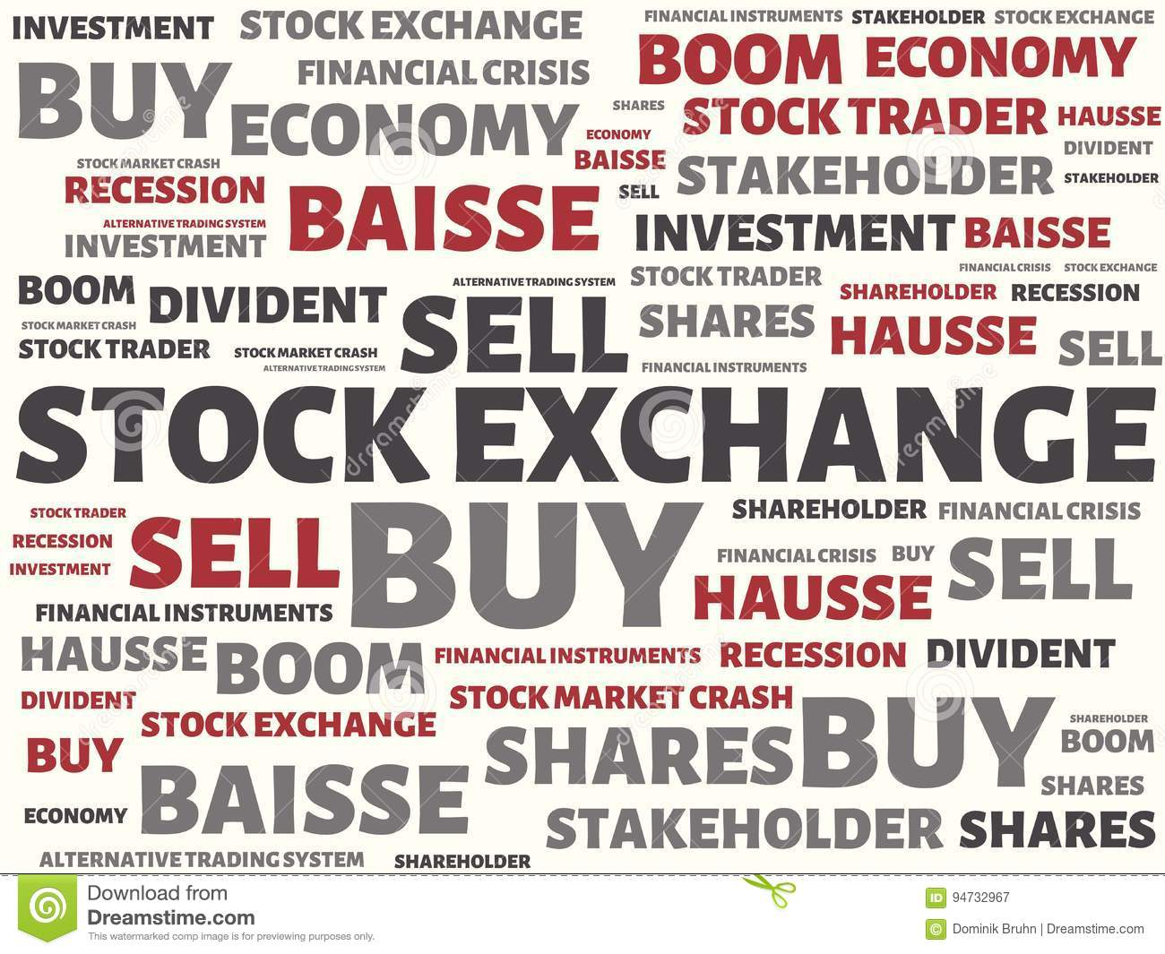 Stock Exchange Image With Wordsociated With The Topic Stock Exchange Word Cloud Cube Letter Image Il Ration