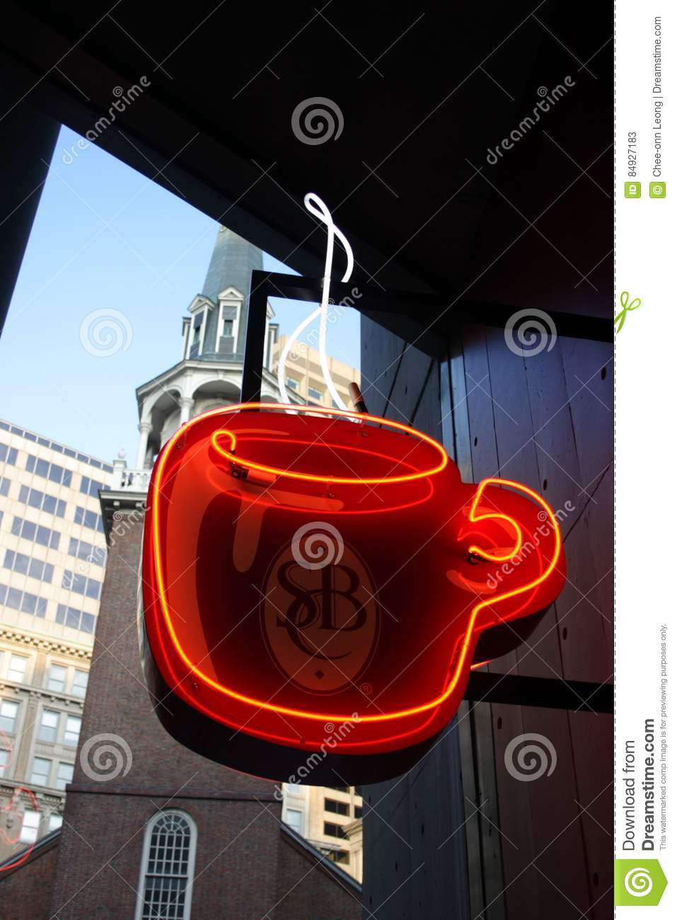 Stock image of Coffee Shop Sign