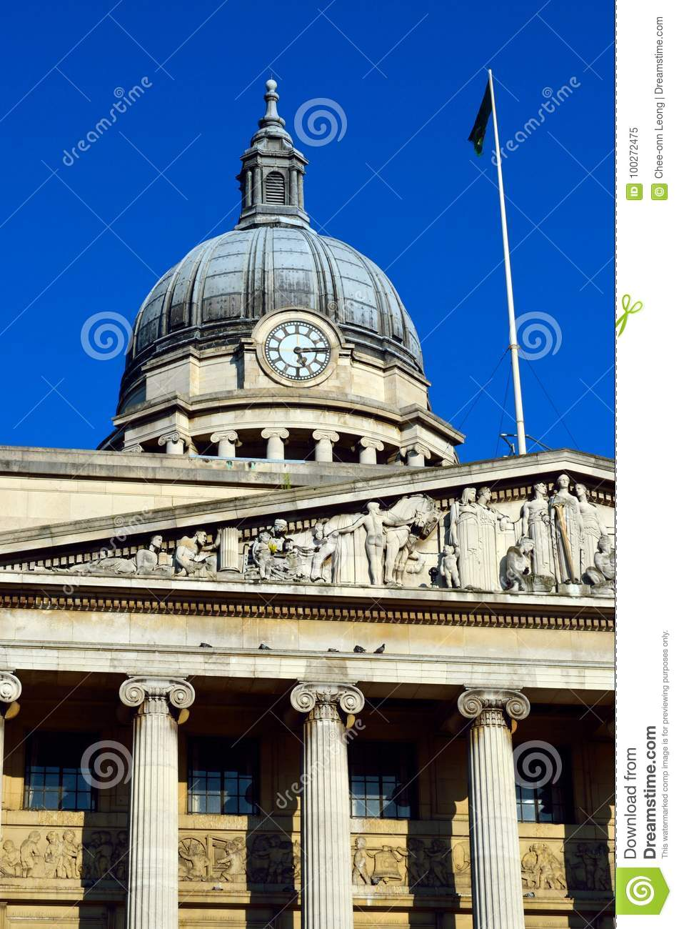 Stock image of Old architecture in Nottingham, England