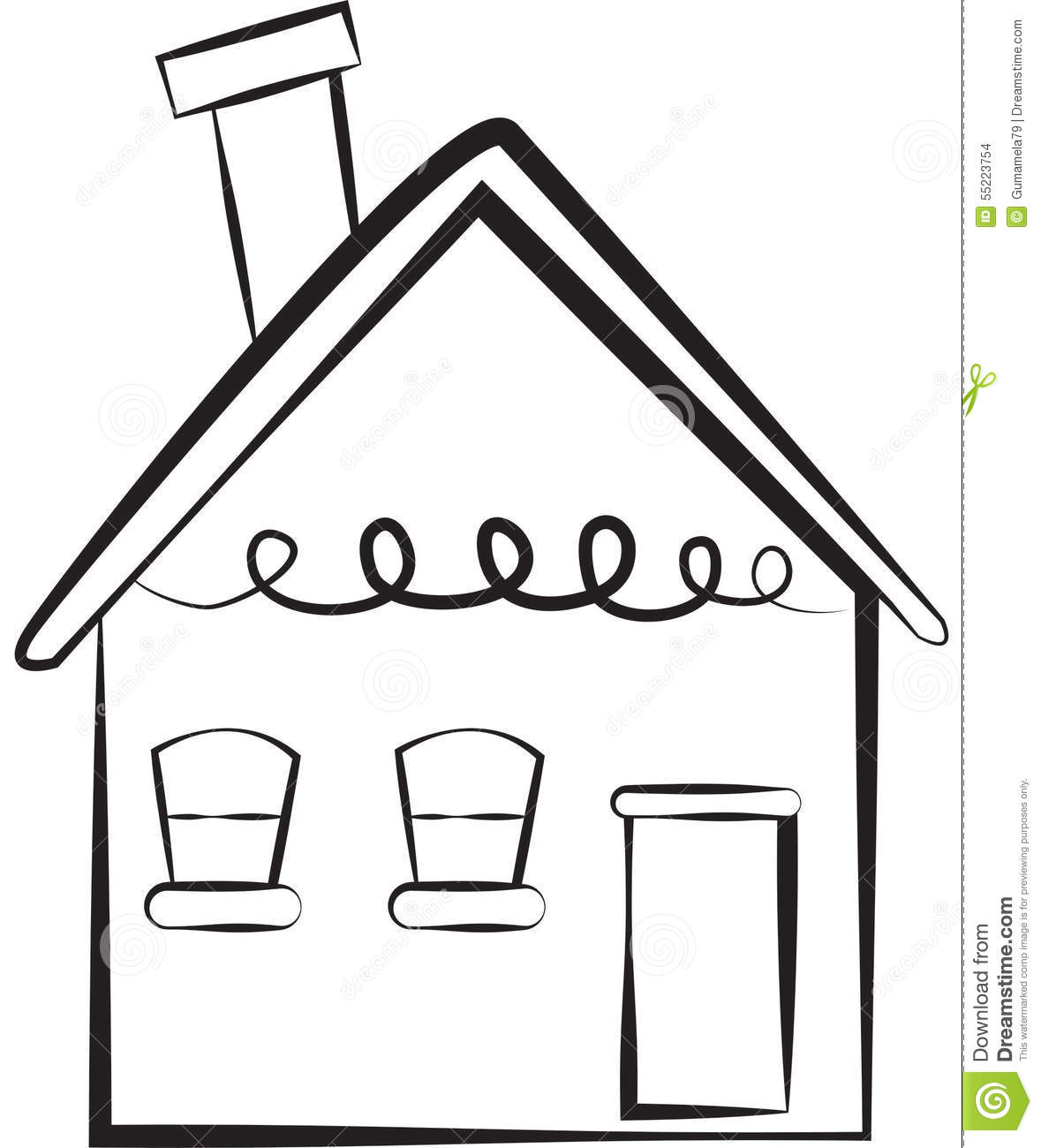 Stock image simple house stock illustration image 55223754 for Simple house image