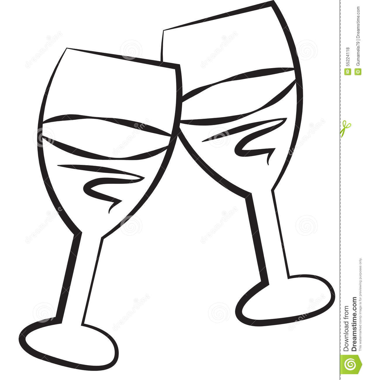 Line Drawing Glasses : Stock image wine glass illustration