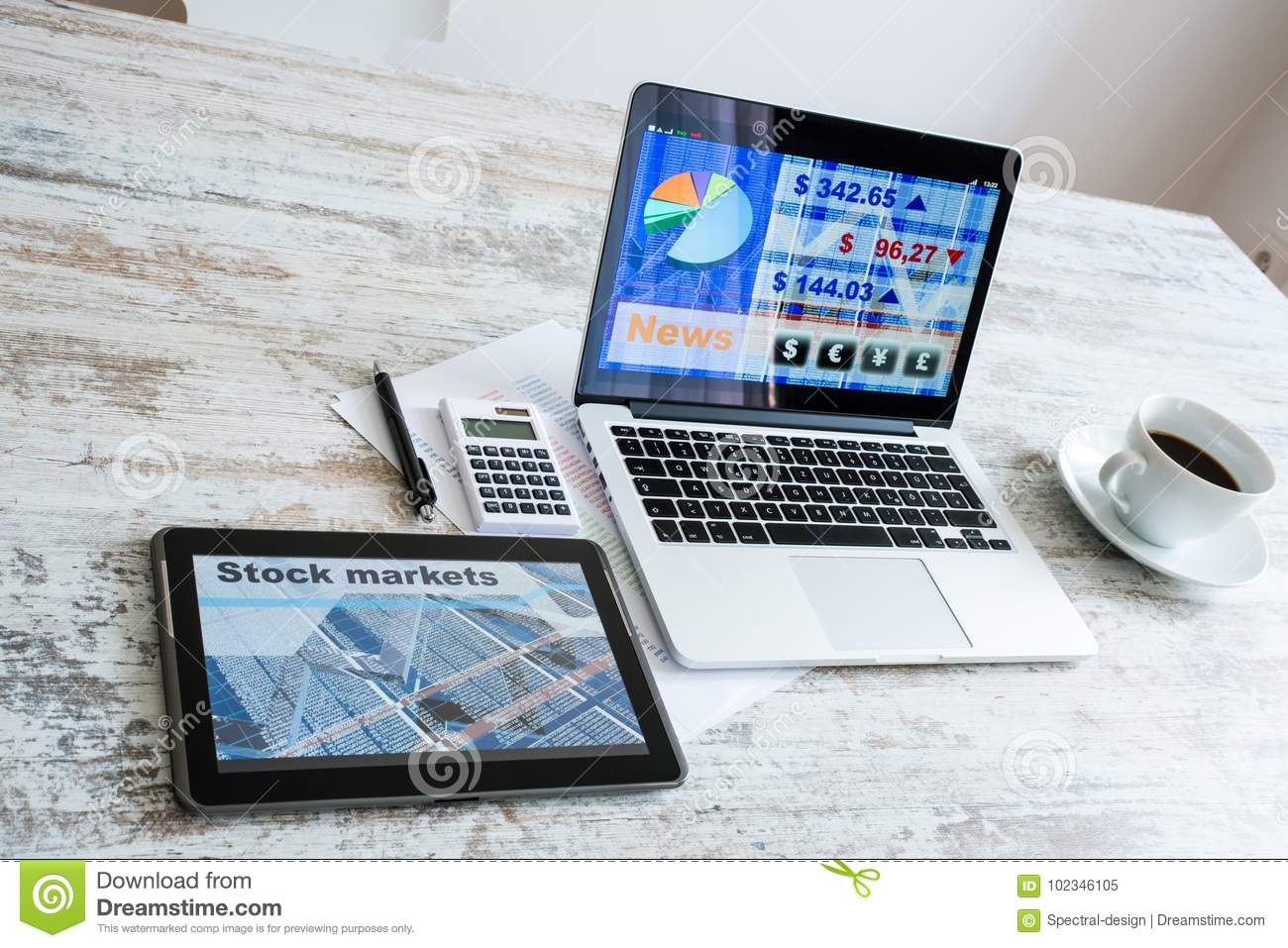 Stock market calculations and trading with a tablet pc and lapto download stock market calculations and trading with a tablet pc and lapto stock image image ccuart Image collections