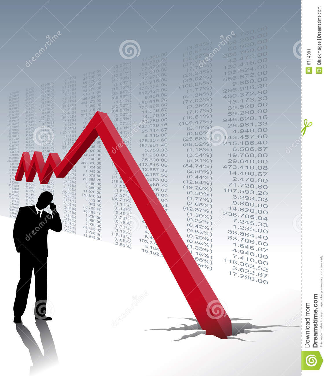 Stock Market Crash Stock Image Image 8714081