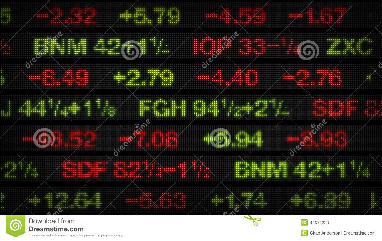 Stock Market Data Tickers Board Stock Video Video Of Animation