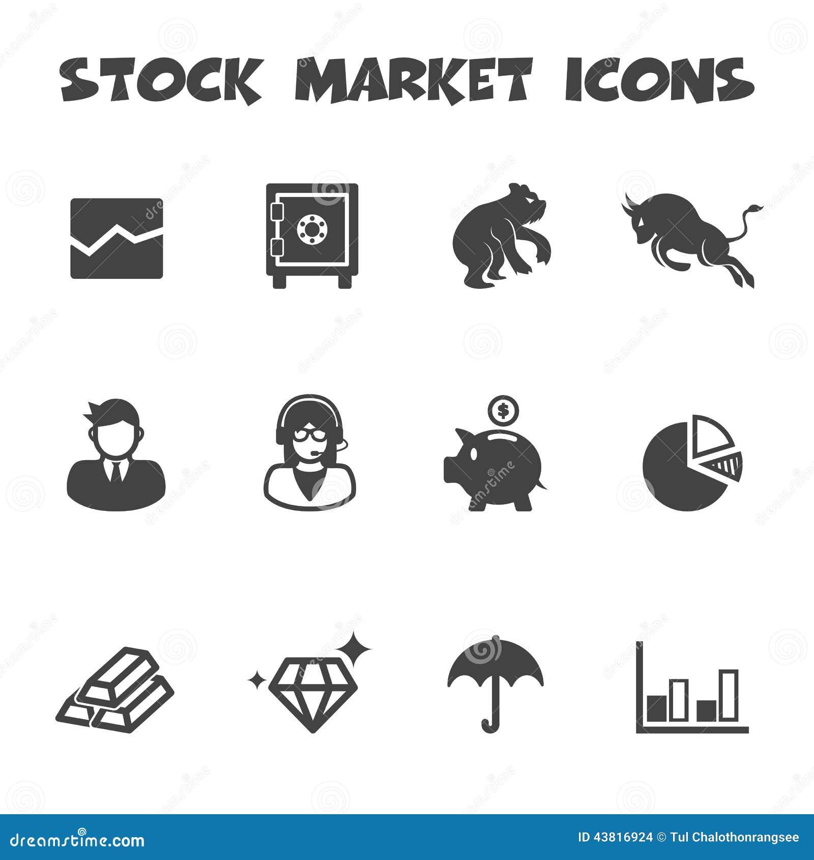 Stock Market Icons Illustration 43816924 Megapixl