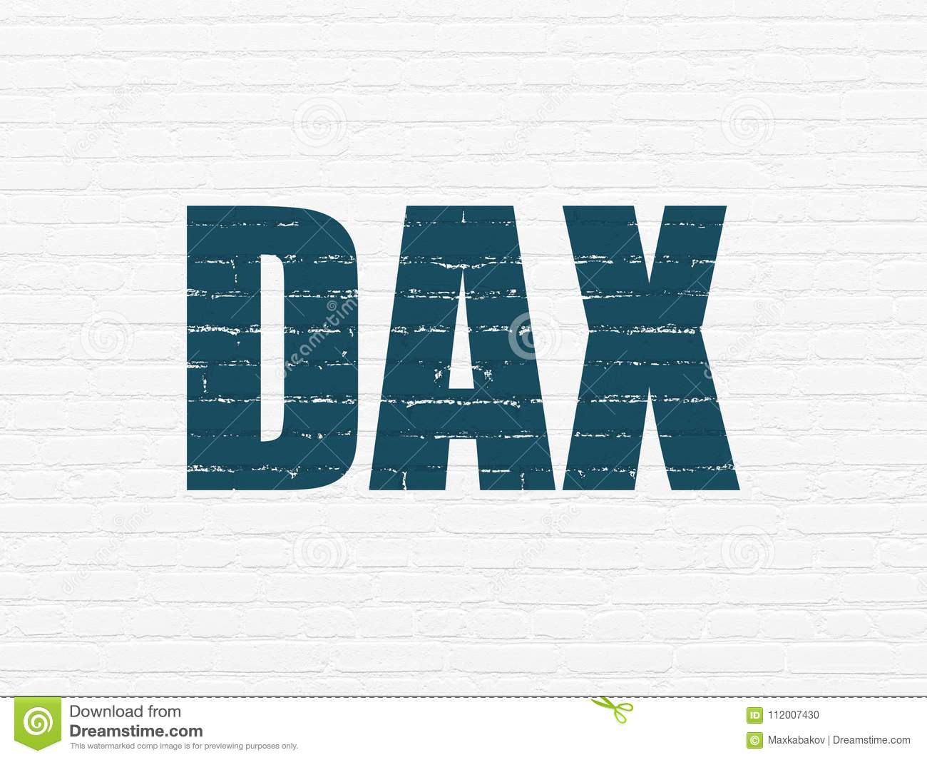 Stock Market Indexes Concept Dax On Wall Background Stock