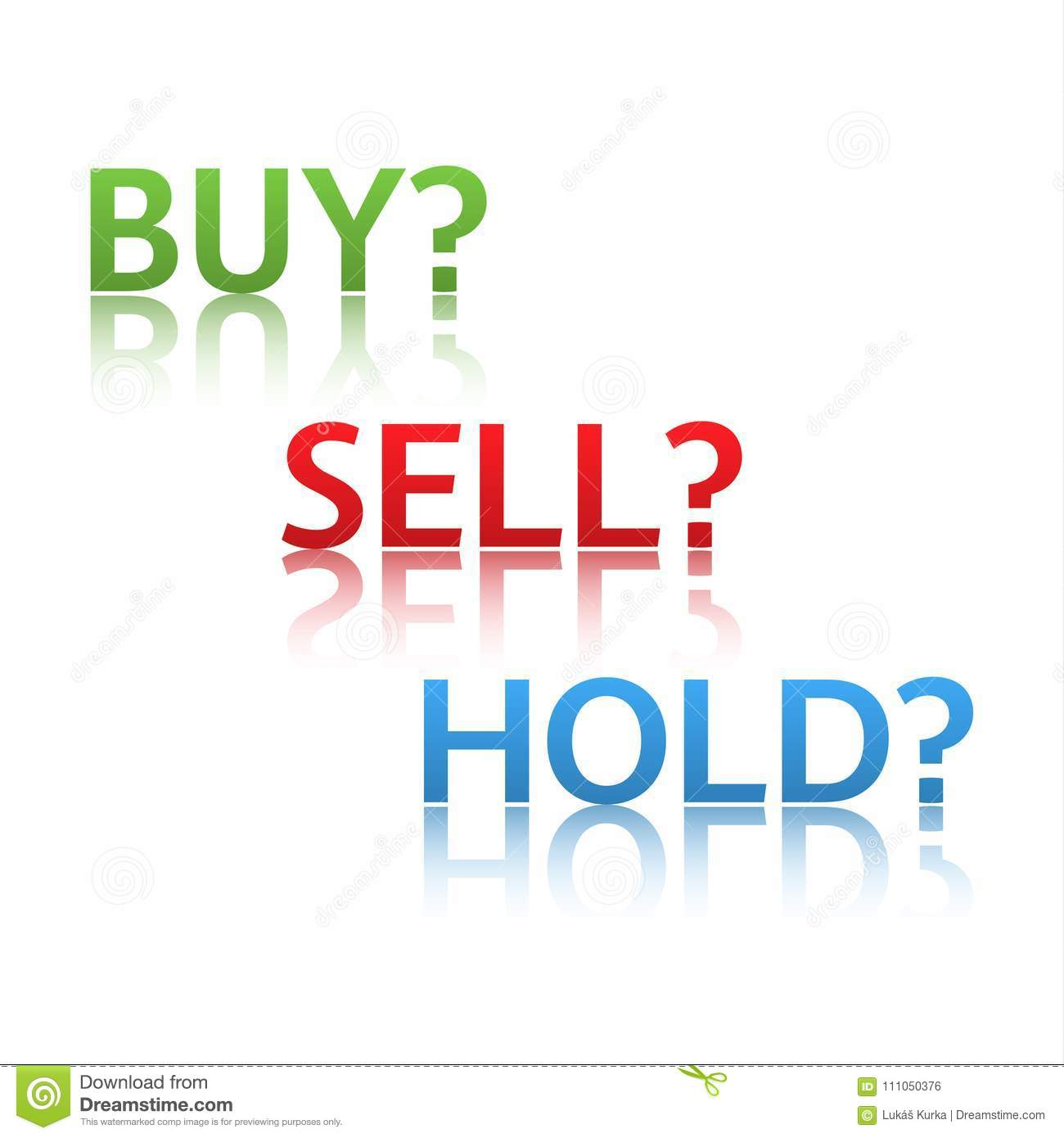 Stock Market Options, Three Business Variants, Buy, Sell, Hold Stock