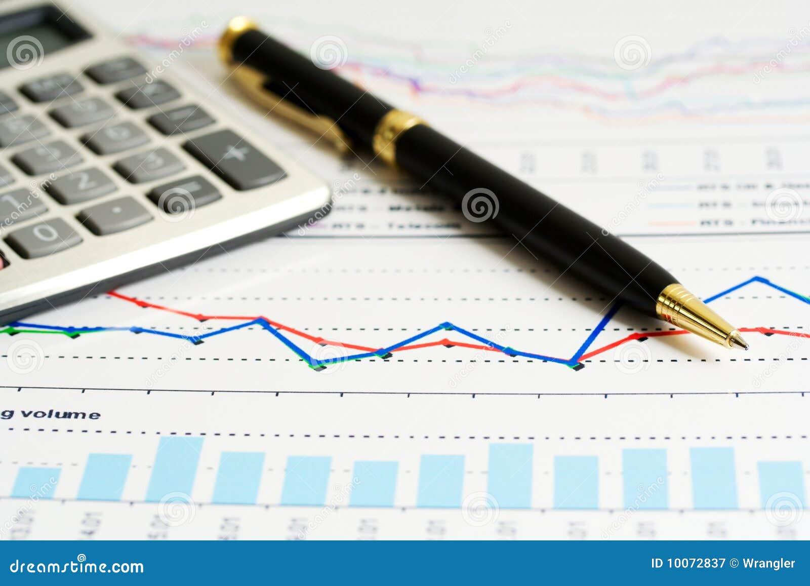 Financial Accounting Market Graphs Analysis Photo – Stock Market Analysis
