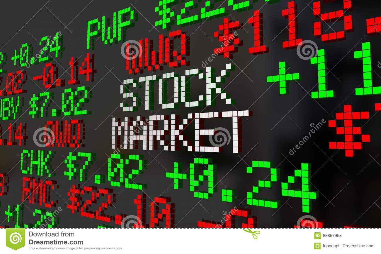 Stock Market Ticker Wall Street Prices Quotes Stock