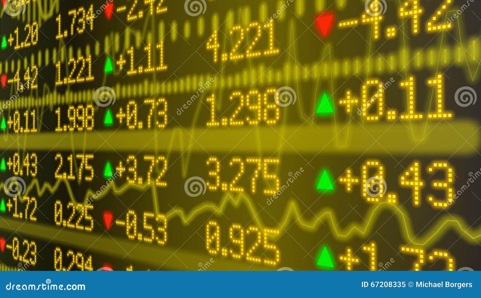 Stock Market Ticker Wall In Yellow Stock Illustration ...