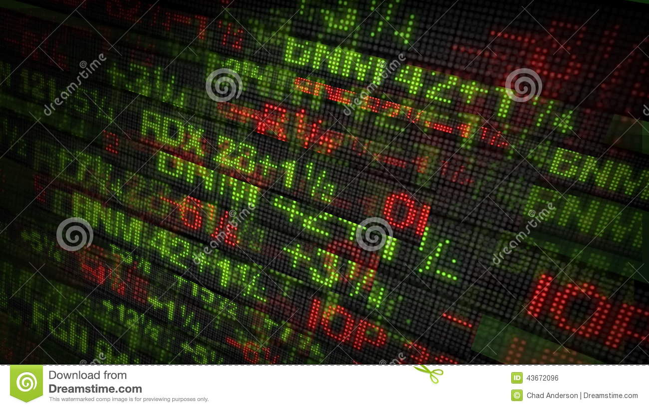 Stock Market Tickers Price Data Animation Stock Footage Video Of