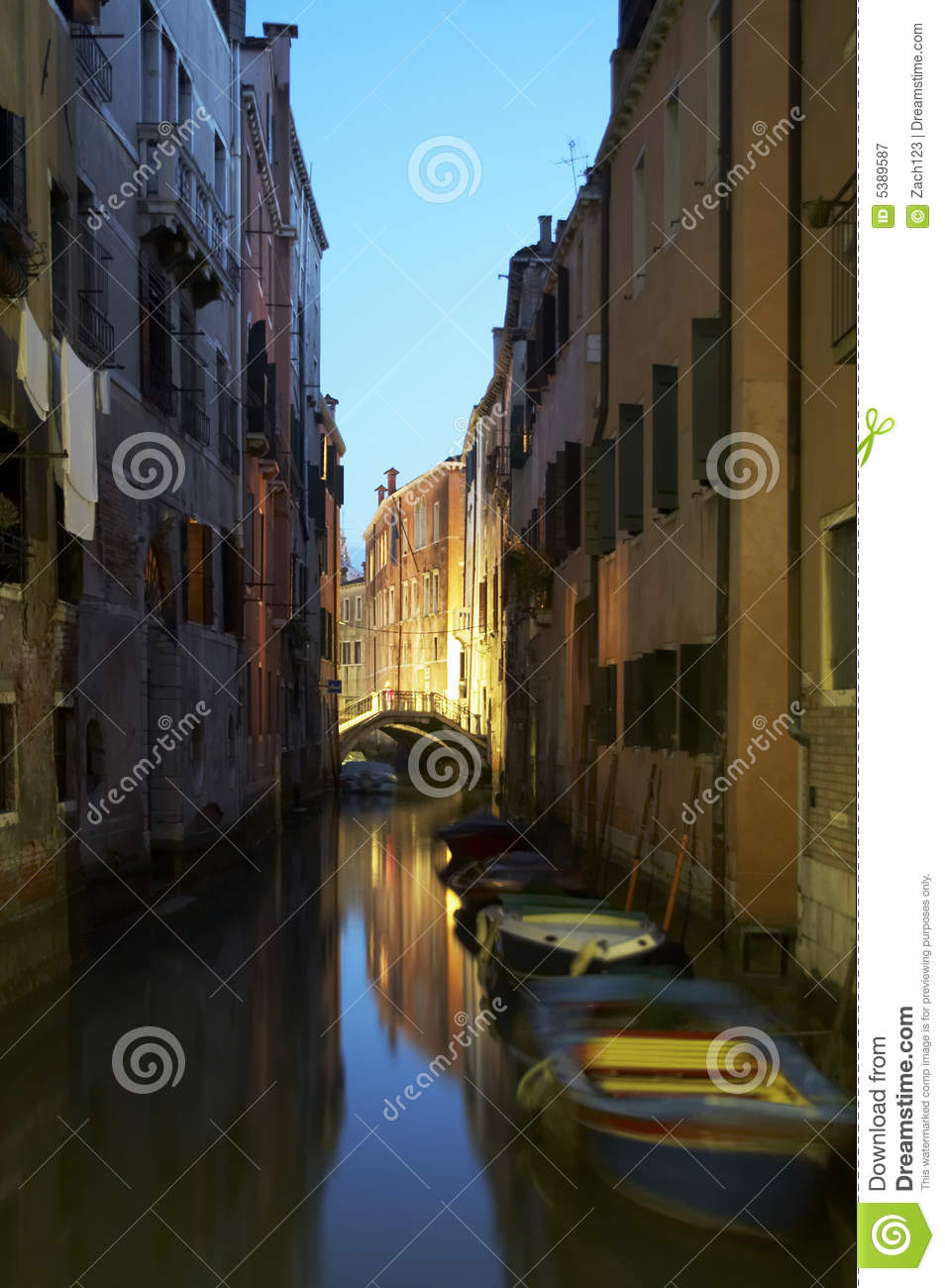 Stock Photo of Canal in Venice