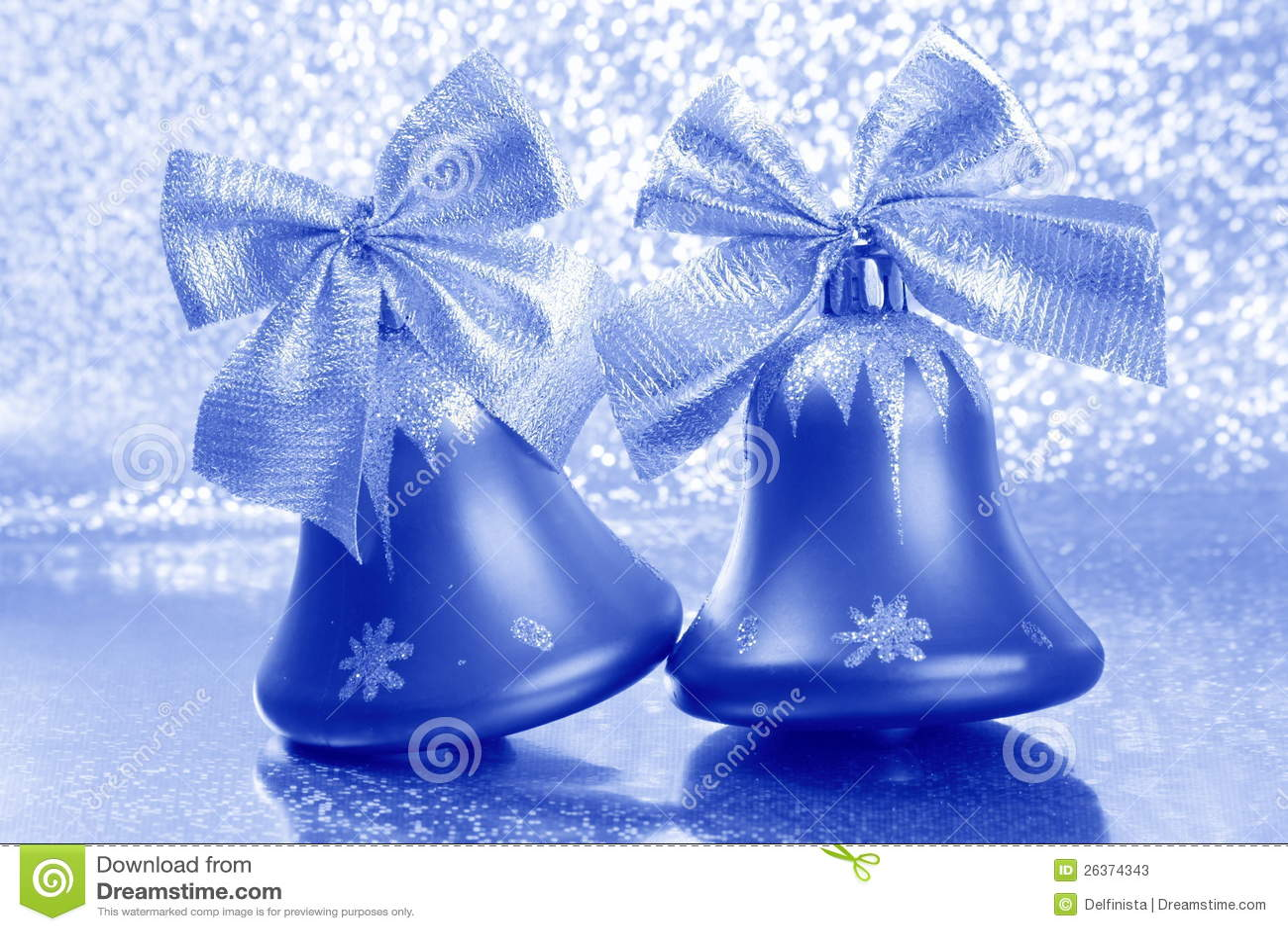 Stock photo christmas tree jingle bells image