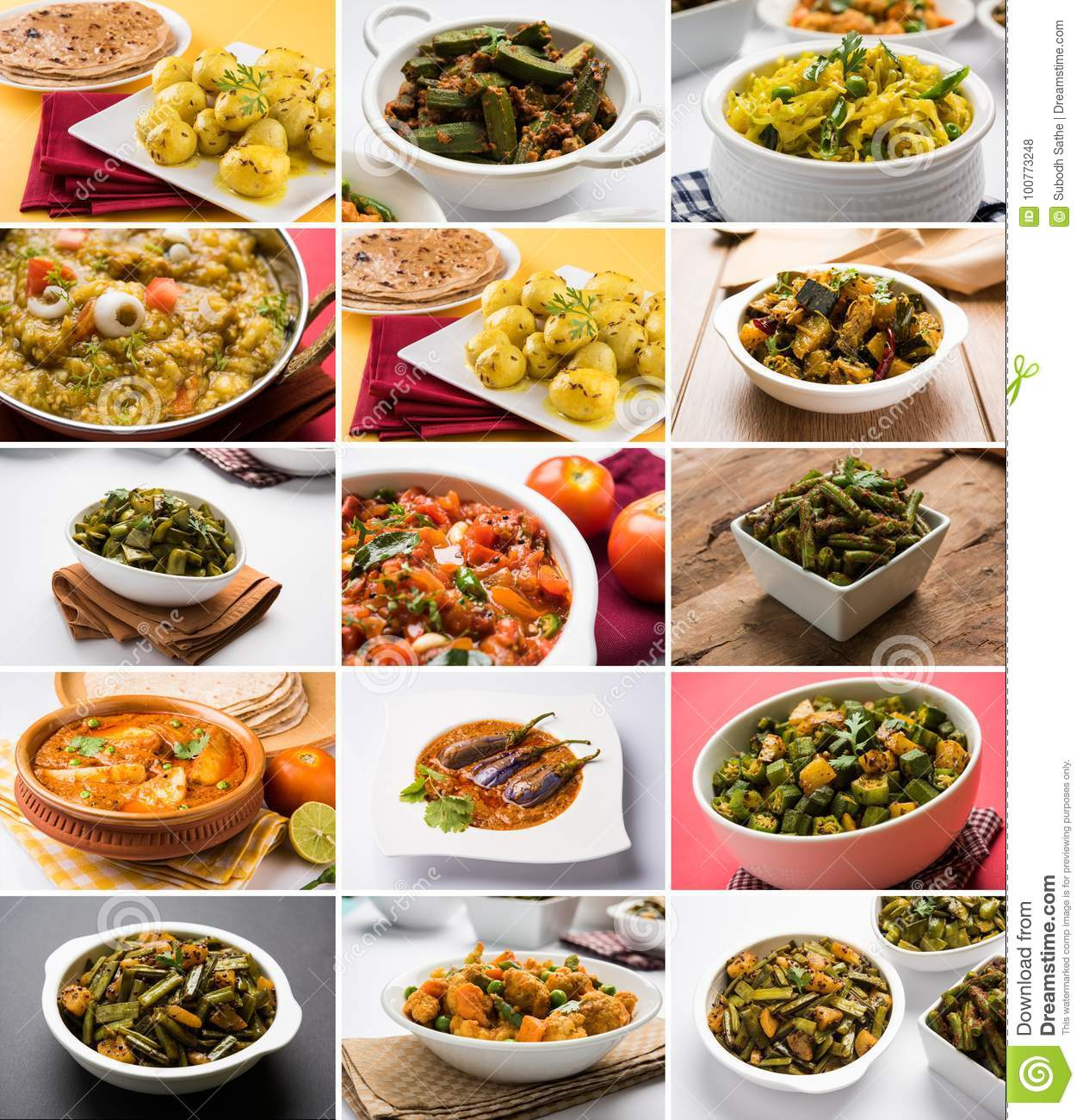 Super Stock Photo Of Collage Of Indian Popular Main Course Home Remodeling Inspirations Genioncuboardxyz