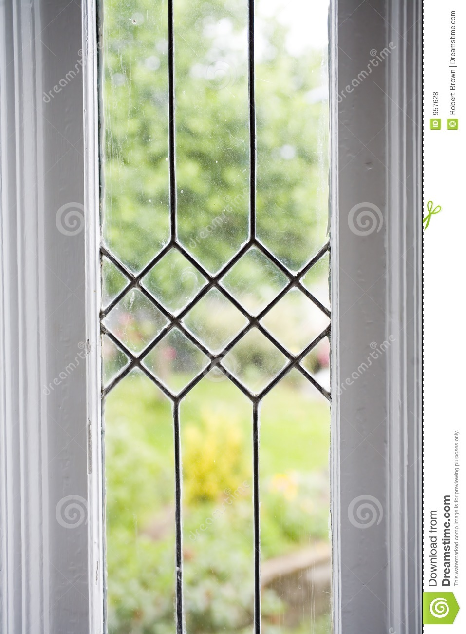 Stock Photo Of A Leaded Glass Window Stock Photo Image