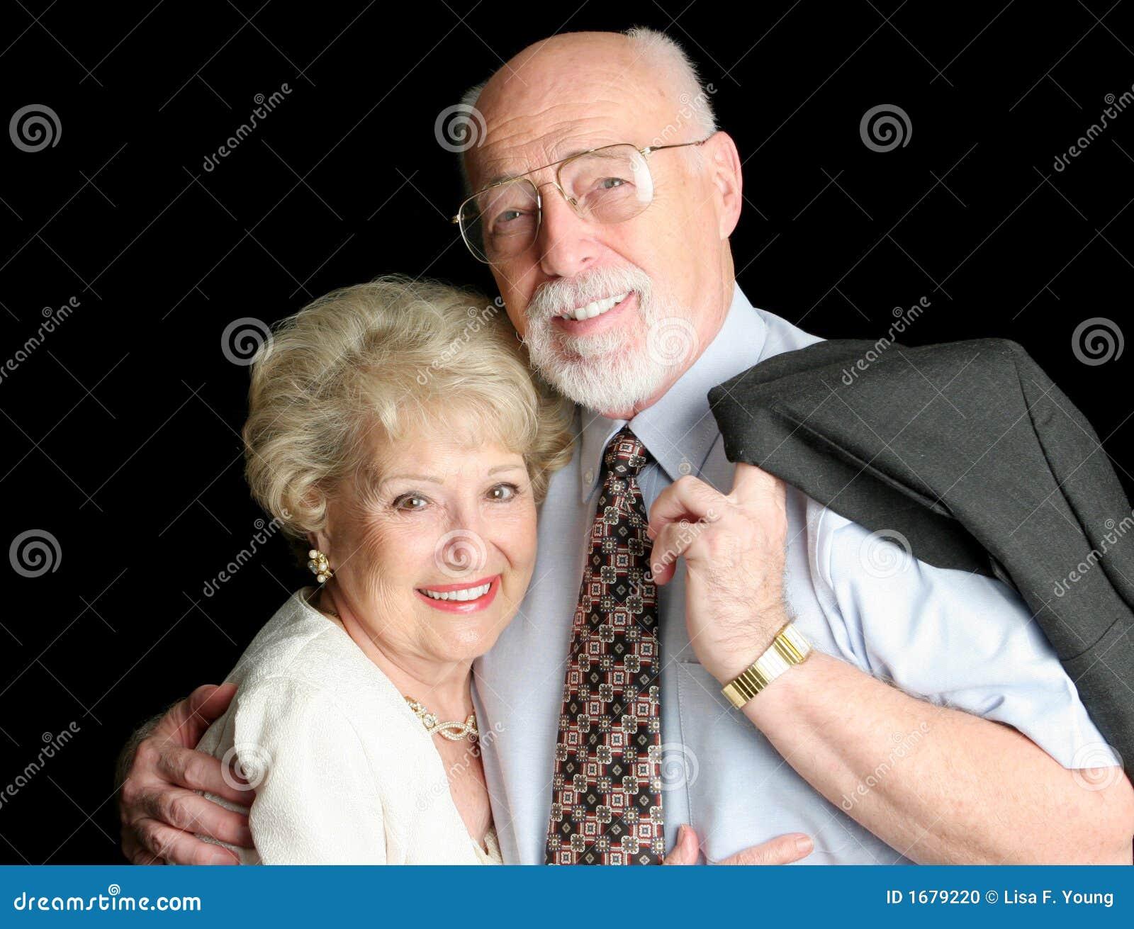 Stock Photo of Loving Senior Couple