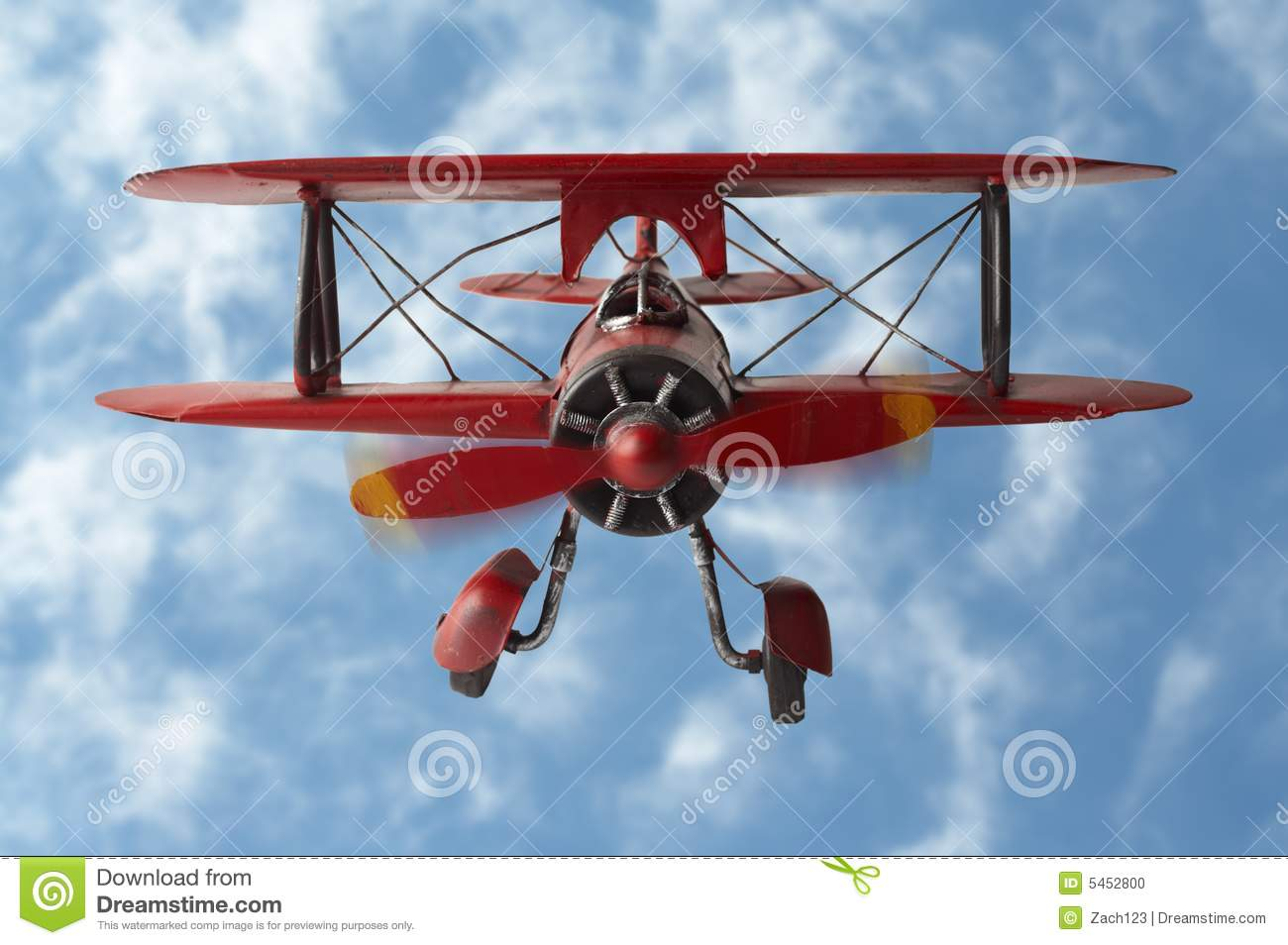 Stock Photo of a model plane