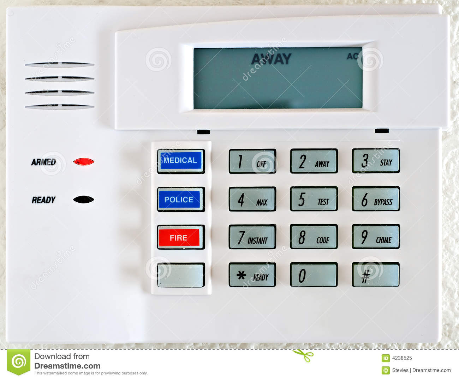 Stock Photo Residential Alarm System Keypad Stock Image