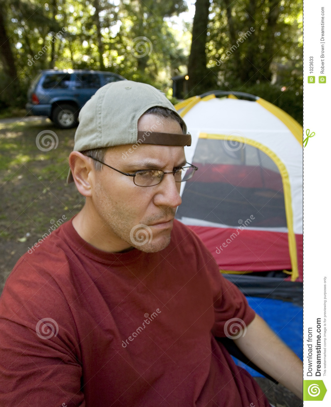 Download Stock Photo Of An Unhappy Camper Image