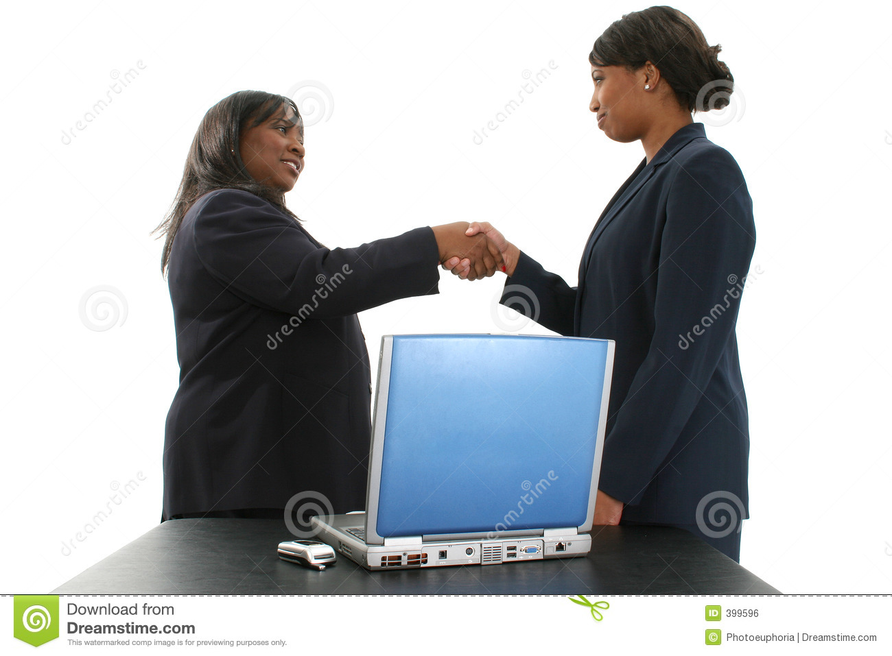 Stock Photography: Two Beautiful African American Business Women