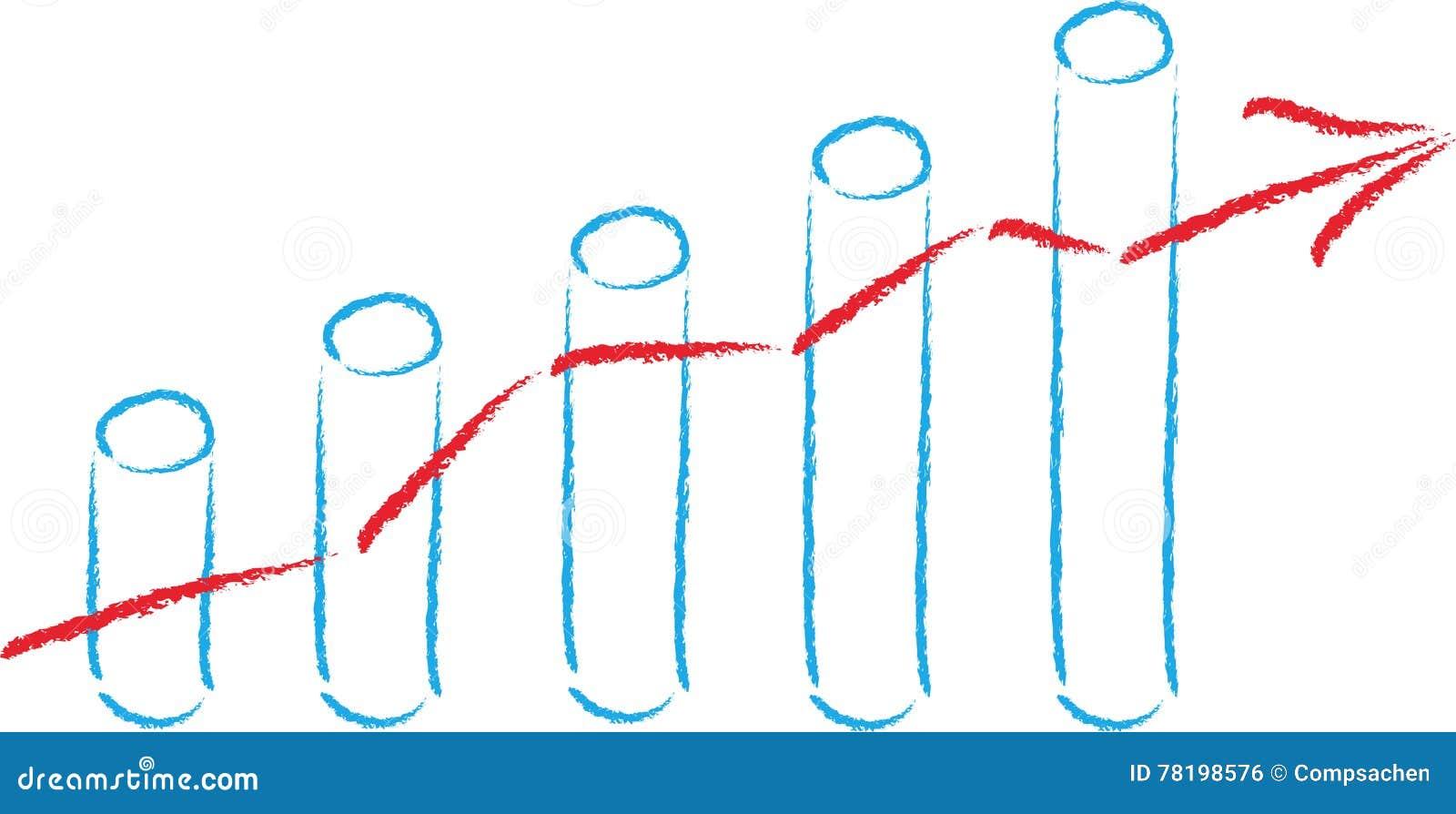 stock price bar chart balance sheet business stock photo image