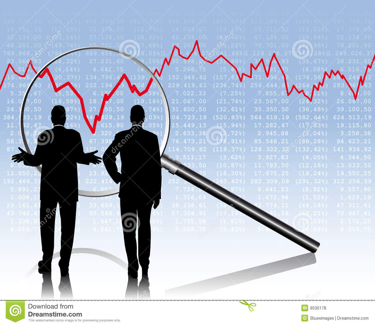 Dow Quotes Real Time: Stock Quotes Stock Vector. Illustration Of Course, Curves