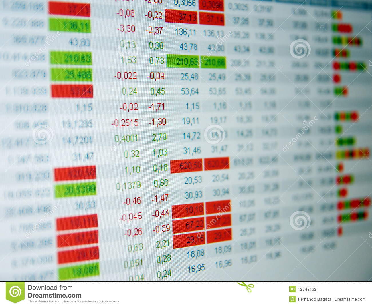 Stock quotes, real time quotes at the stock exchange, market.