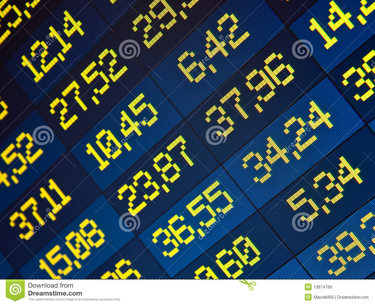 Free Stock Quote Stock Quotes At Real Time At The Stock Exchange Stock Illustration