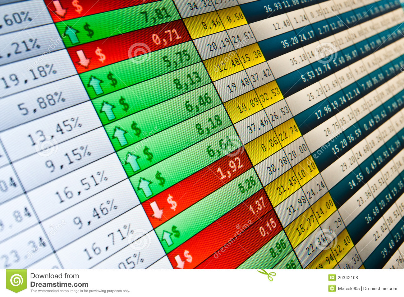 Real Time Stock Quote Stock Quotes At Real Time At The Stock Exchange Stock Photo