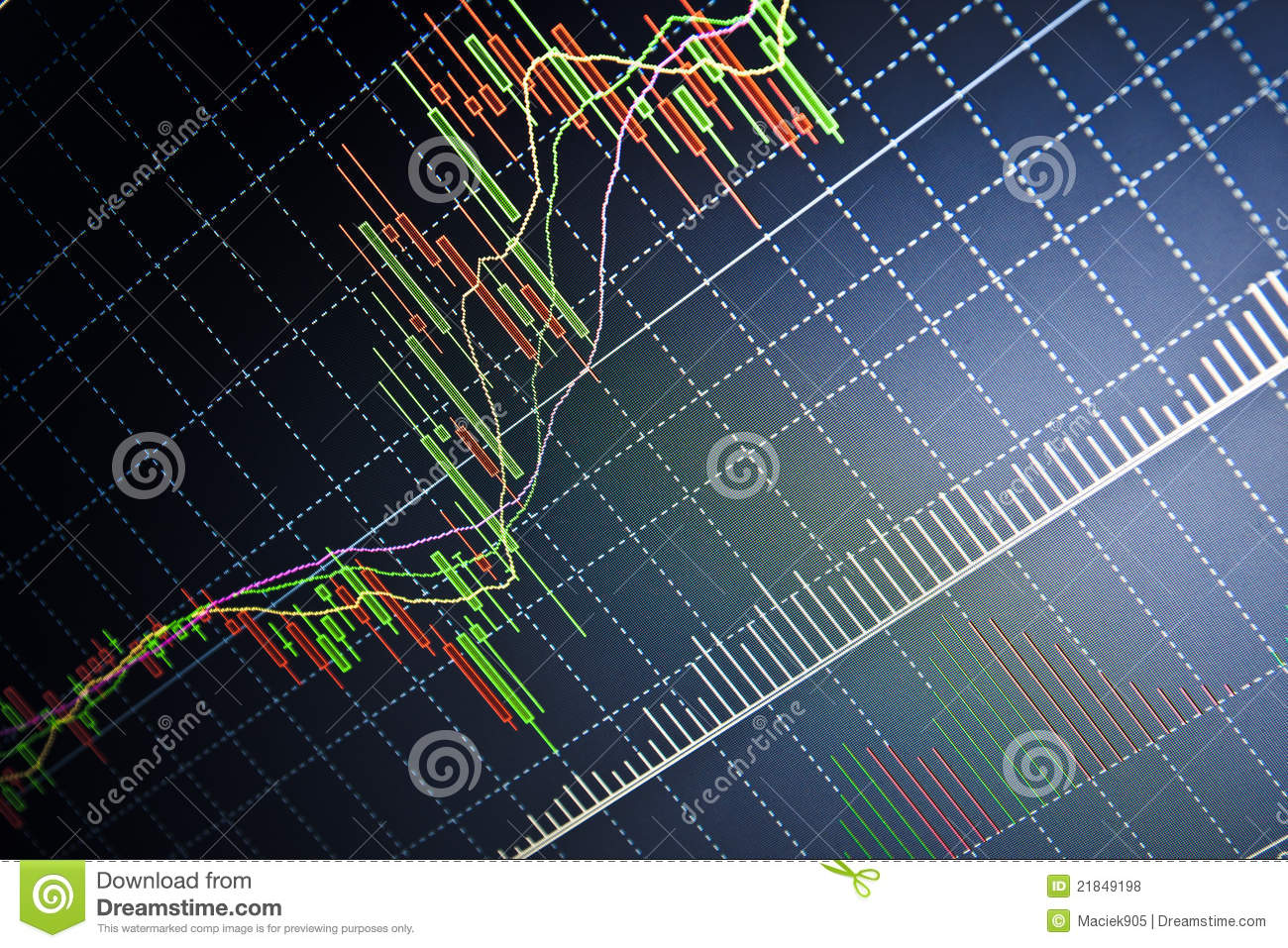 Real Time Stock Quote Stock Quotes At Real Time At The Stock Exchange Stock Illustration