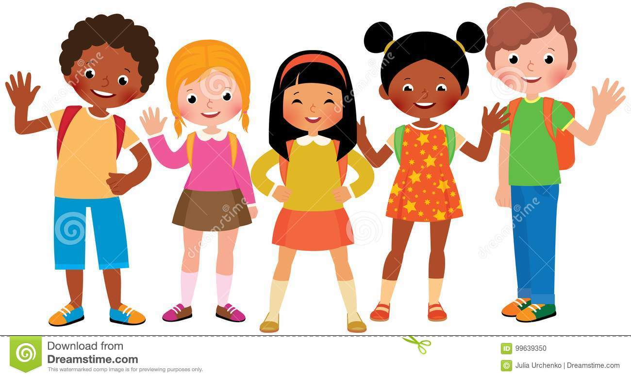 Stock Vector Cartoon Illustration Of A Group Of Children